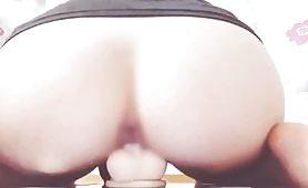 Schoolgirl uniform dildo masturbation