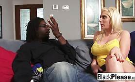 Busty blonde Kelli gets a BBC